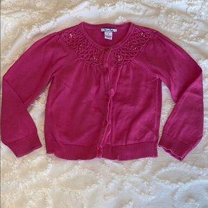 Hartstrings, jeweled pink cardigan